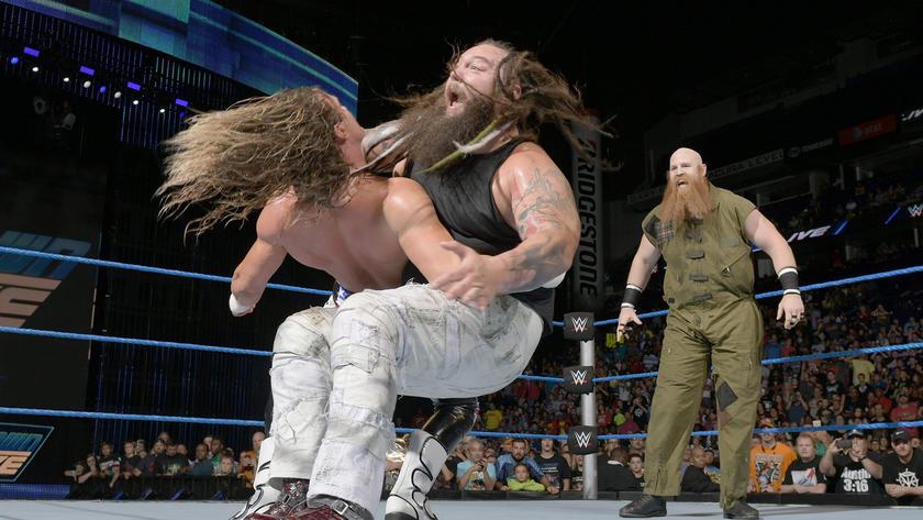 Wyatt hits Ziggler with Sister Abigail.