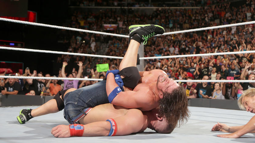 Cena finally succumbs to a combination of the Styles Clash quickly followed by a Phenomenal Forearm.