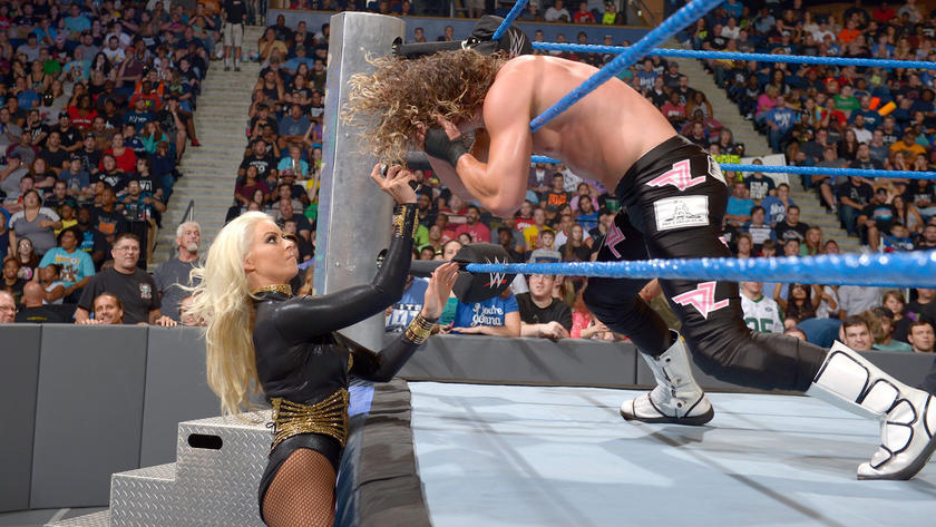 Ziggler's heroics backfire, however, when Maryse blinds him, allowing Miz to hit him with a Skull-Crushing Finale.