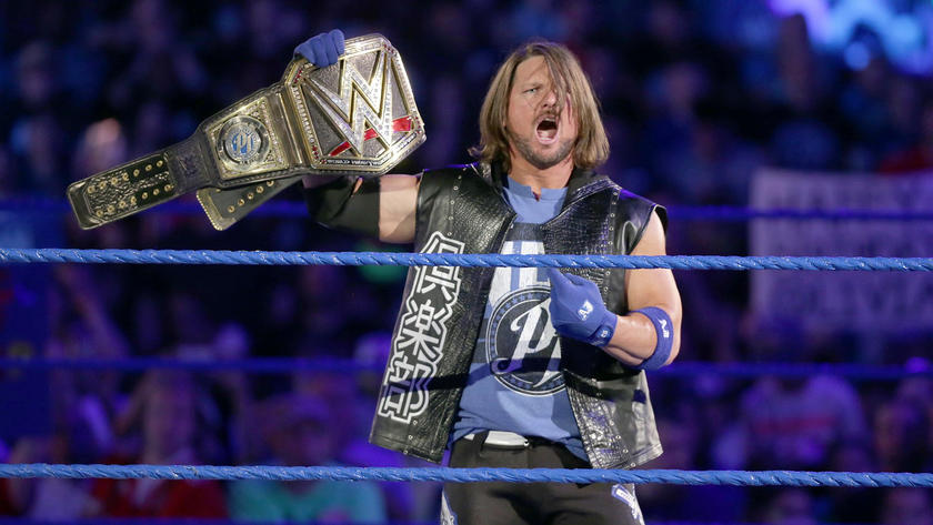 AJ Styles awaits his tag team partner – local competitor James Ellsworth.
