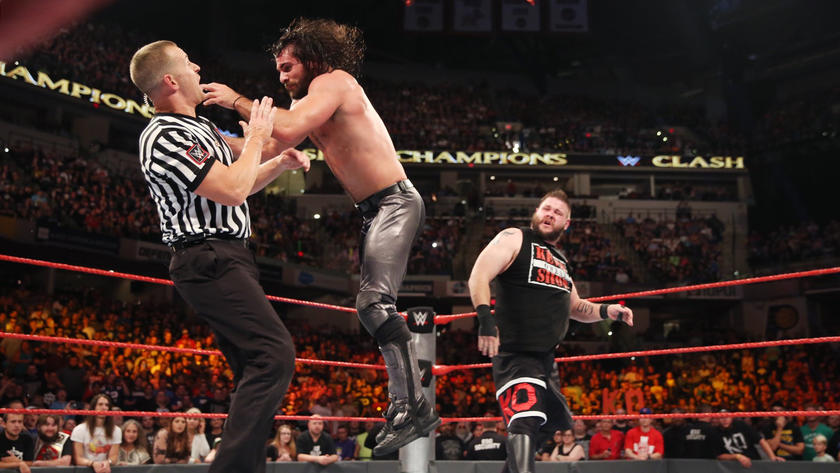 Owens launches Rollins into the official.