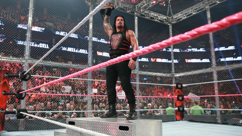 Roman Reigns perseveres and executes a Spear to claim victory and retain the U.S. Title.