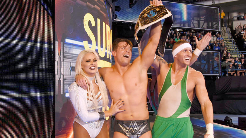 The Miz celebrates his Intercontinental Title victory on SmackDown LIVE's 900th episode.
