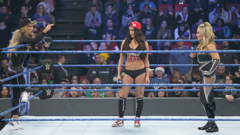 Carmella continues to accuse Natalya of attacking Nikki at Survivor Series.
