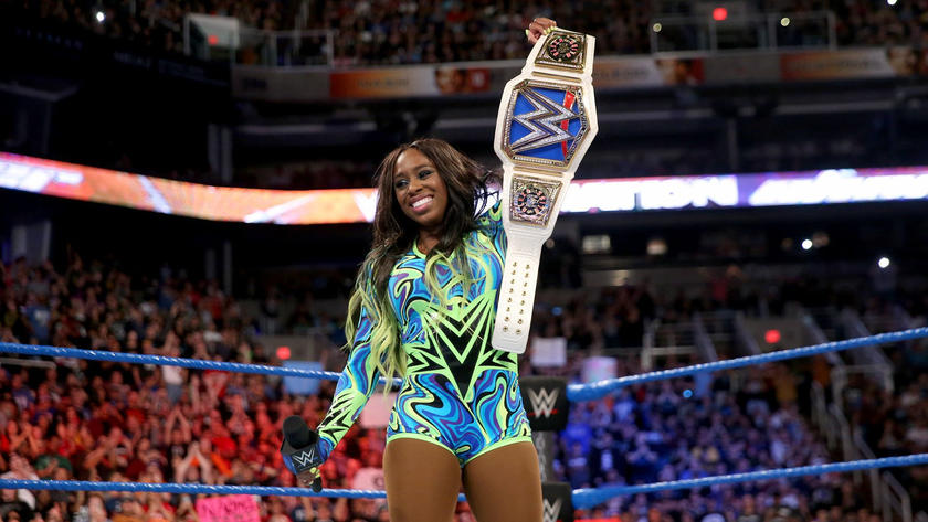 Naomi thanks the WWE Universe, and now looks ahead to WrestleMania following her career-defining victory.