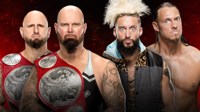 Image result for Enzo and Big Cass vs. Luke Gallows and Karl Anderson Fastlane