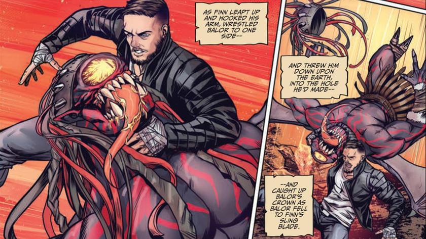 finn bálor battles the demon king in new comic wwe
