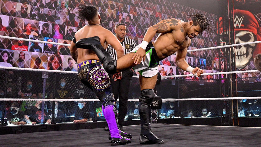 MSK def. Grizzled Young Veterans and Legado del Fantasma to win the vacant NXT Tag Team Championship | WWE
