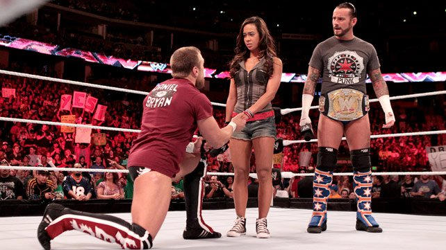 Who does aj lee hookup in real life