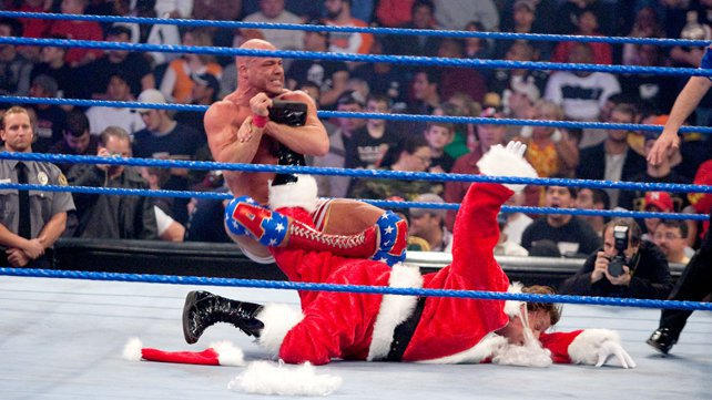 Image result for WWE armageddon 2004 Kurt Angle vs Santa Claus