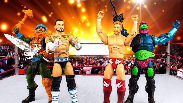 WWE maîtres de la WWE univers WWF exclusives Masters of the Universe Chiffres non perforé