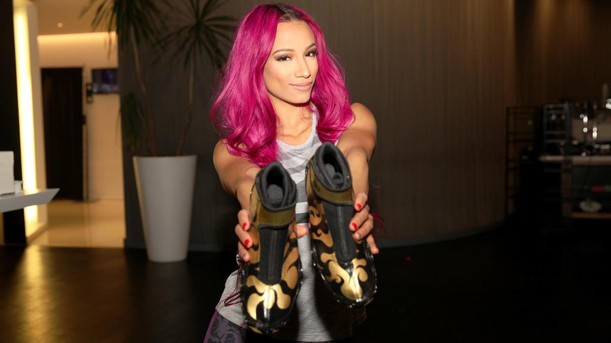 Sasha Banks receives her custom WrestleMania footwear: photos