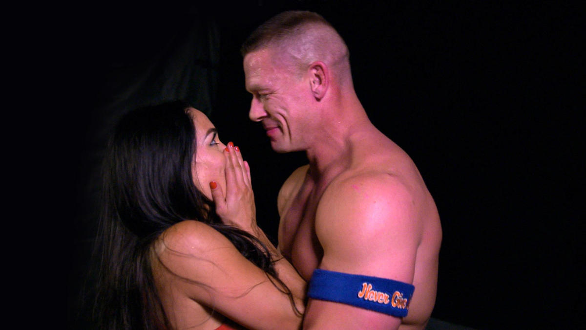 John Cena and Nikki Bella share an emotional moment backstage after ...