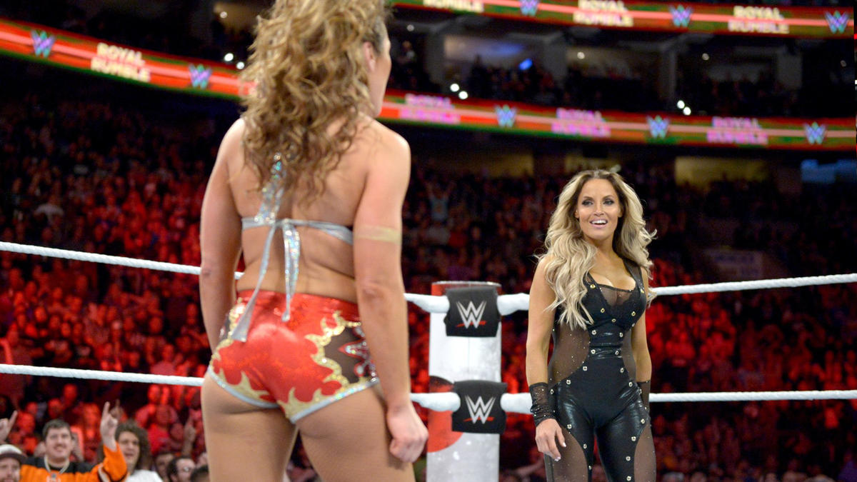 Trish Stratus returns to action in the first-ever Women's