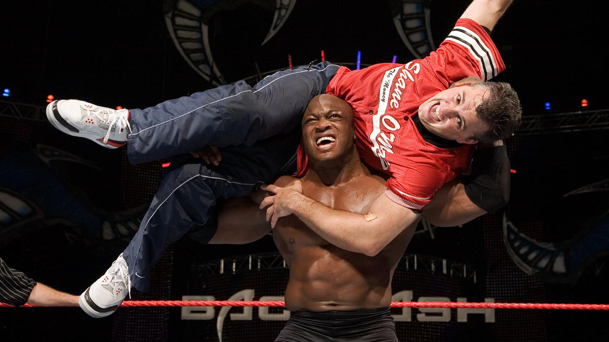 Image result for WWE Backlash 2007 Bobby Lashley vs Umaga/ Vince/Shane McMahon wwe.com