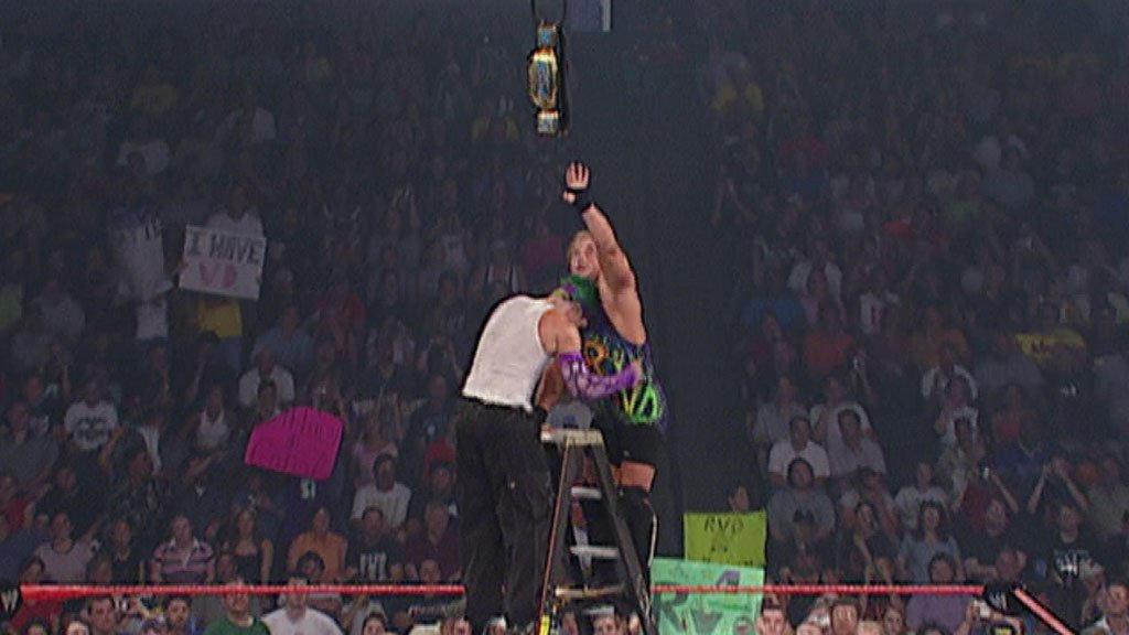 Rob Van Dam vs. Jeff Hardy: Raw - Intercontinental and European  Championship Unification Ladder Match, July 22, 2002 | WWE