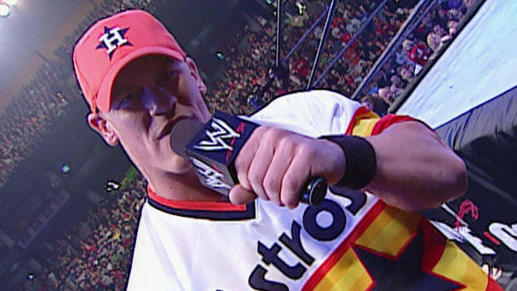 John Cena freestyles before his first-ever Royal Rumble appearance: Royal  Rumble 2003 | WWE