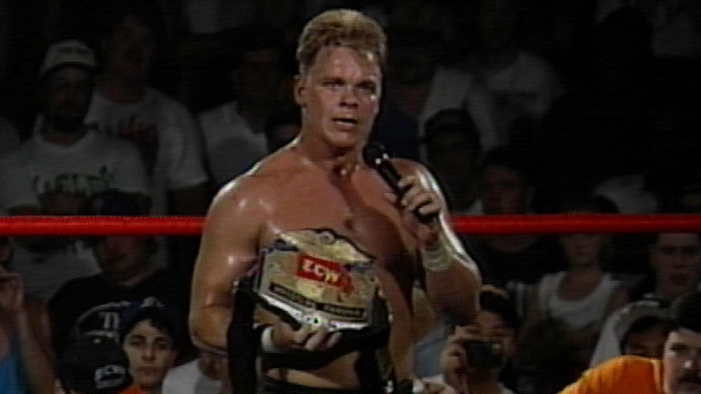Shane Douglas after having just thrown down the NWA belt to embrace the ECW title.