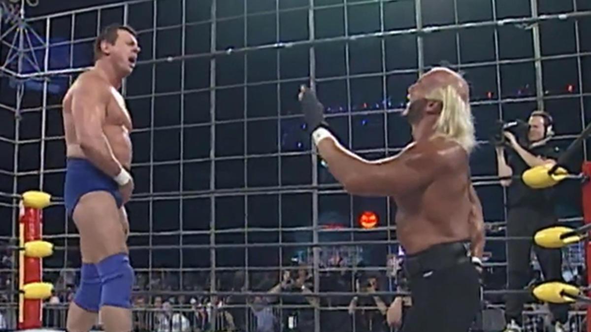 """Halloween Havoc 1997: """"Rowdy"""" Roddy Piper vs. """"Hollywood"""" Hogan   WWE"""