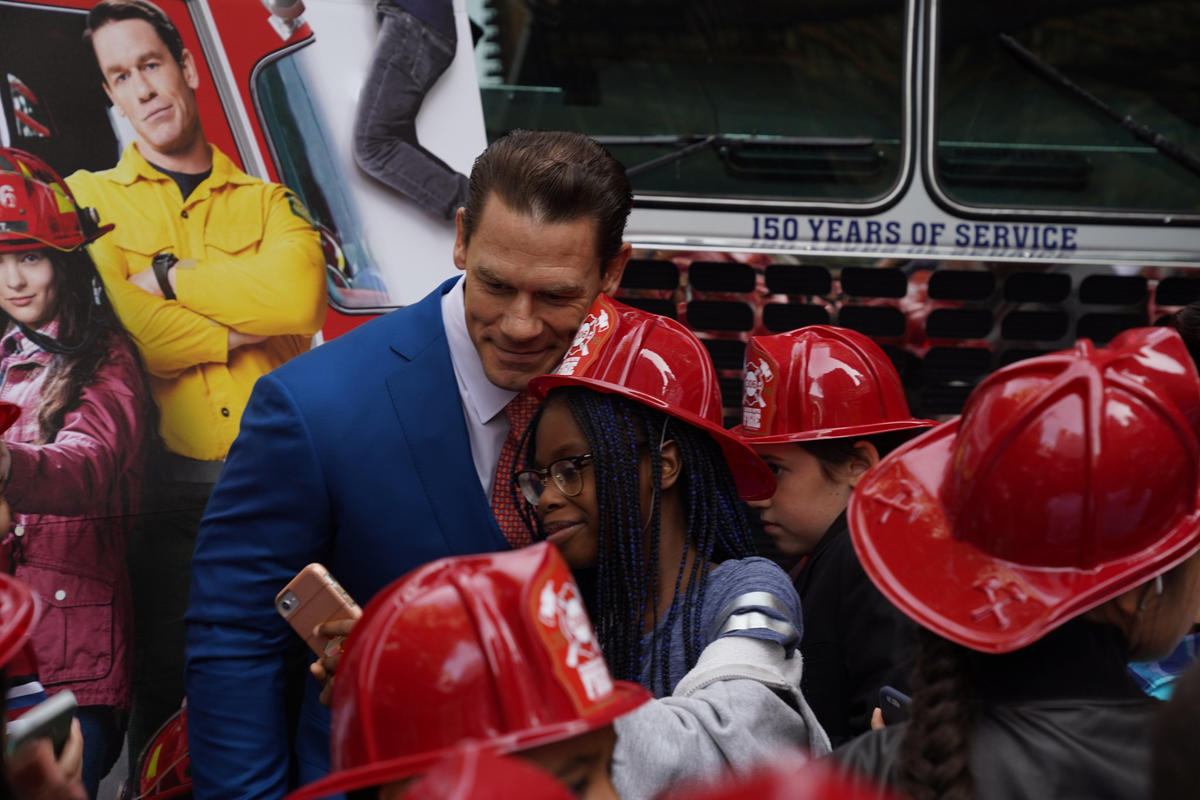 John Cena Walks The Red Carpet At U0022playing With Fire U0022 World Premiere