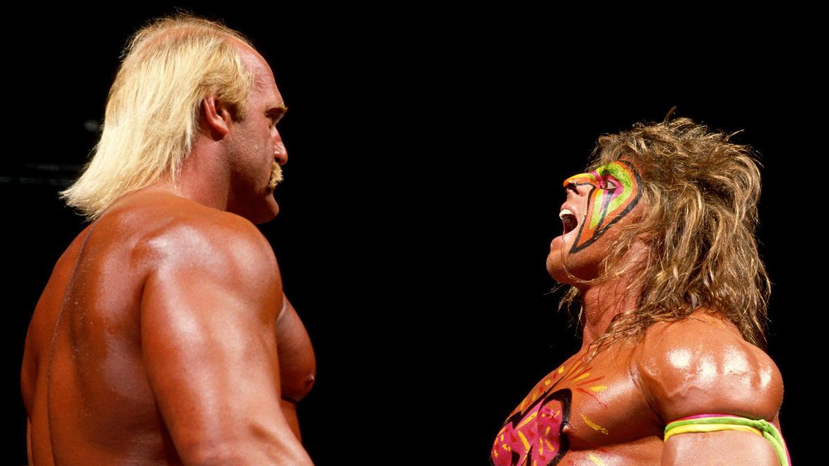 Hulk Hogan vs. Ultimate Warrior – Champion vs. Champion Match ...