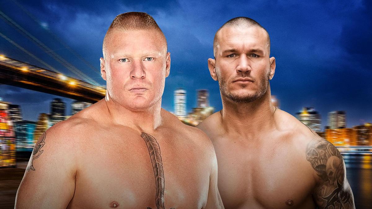 Resultado de imagem para Brock lesnar e randy orton summerslam