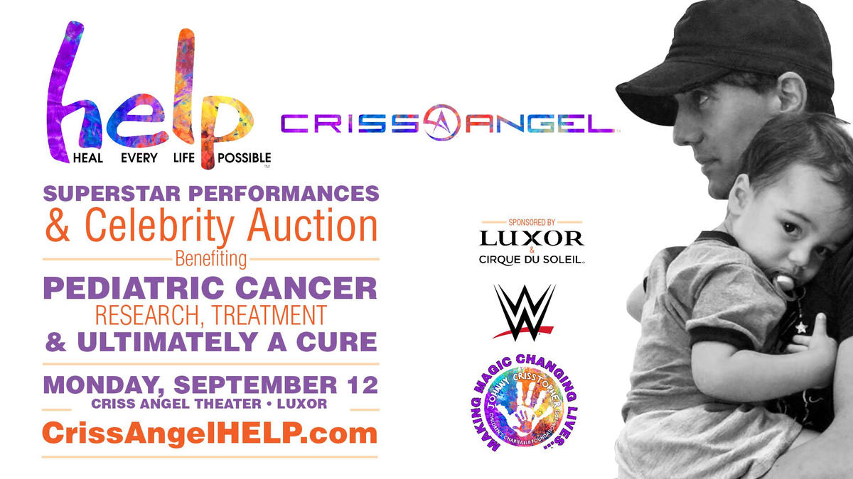 a773dd50166 Criss Angel and WWE want to HELP make pediatric cancer disappear | WWE