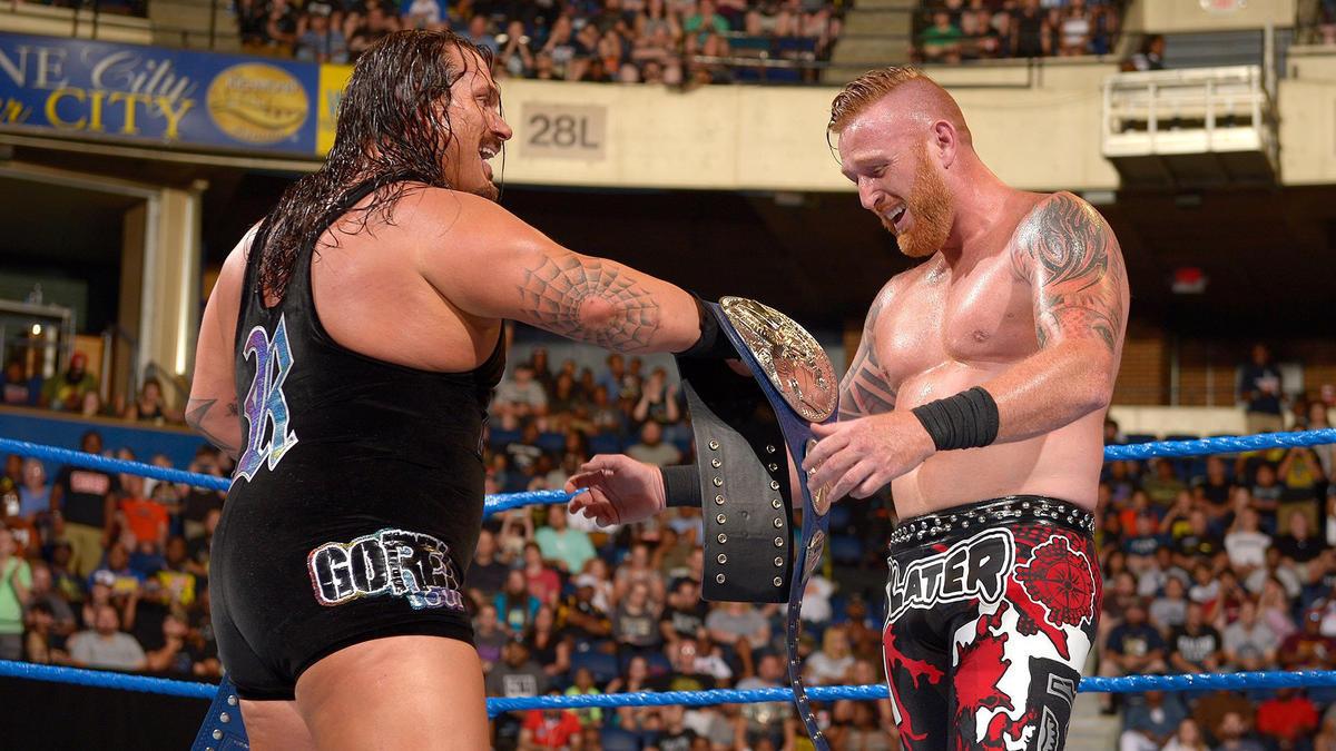 Image result for WWE Backlash 2016 wwe.com The Usos vs Heath Slater/Rhyno