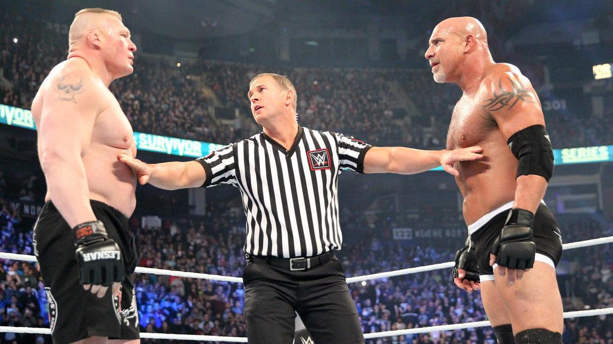 Goldberg Vs Brock Lesnar Photos Wwe