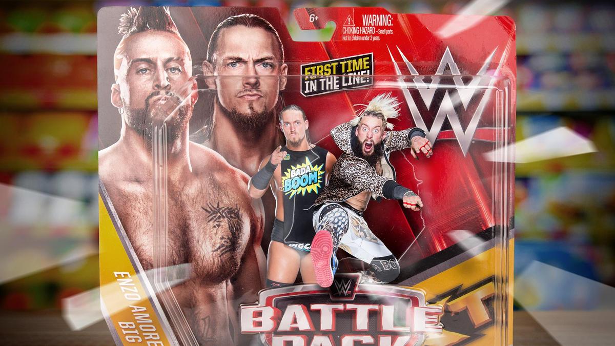 WWE WRESTLING FIGURE MATTEL VAUDEVILLE Simon Gotch /& Aiden English
