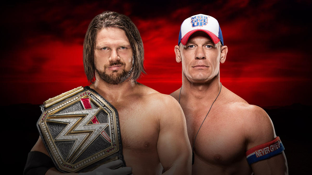 Image result for John Cena vs. AJ Styles Royal Rumble