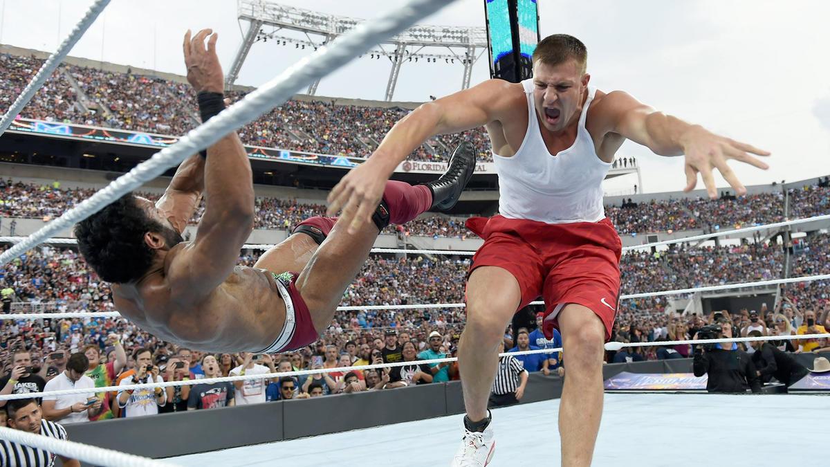 Image result for Rob Gronkowski Wrestlemania 33