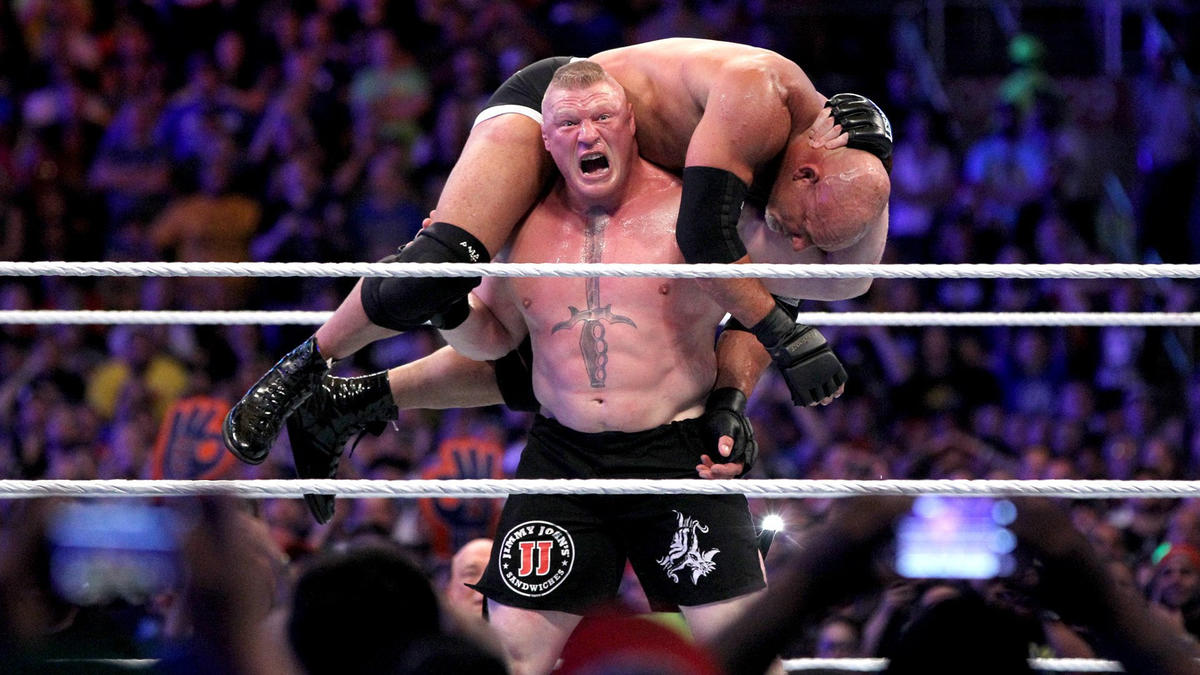 Brock Lesnar Def Goldberg To Win The Universal Championship Wwe