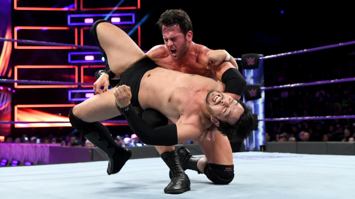 roderick strong def hideo itami wwe