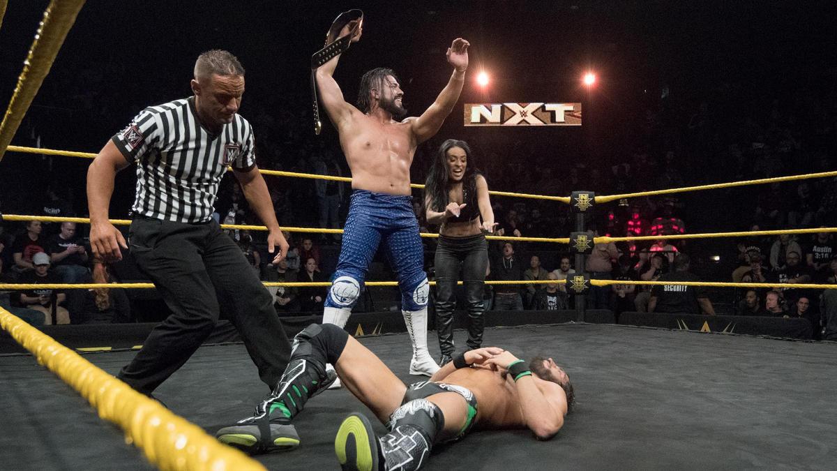 Nxt Champion Andrade Cien Almas Def Johnny Gargano