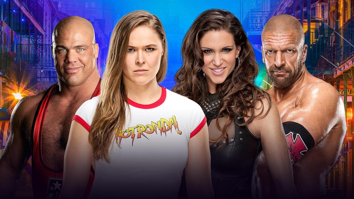 Kurt Angle & Ronda Rousey vs. Triple H & Stephanie McMahon