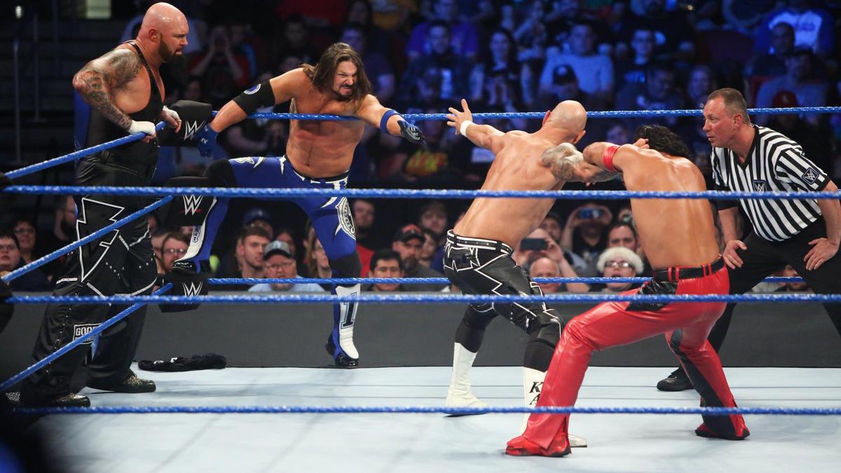 Image result for AJ Styles, Luke Gallows, Karl anderson , Shinsuke Nakamura, Daniel Bryan