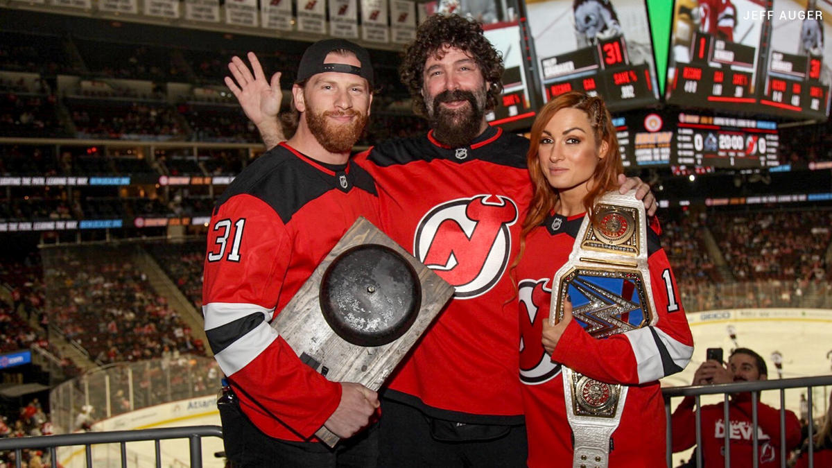 buy online 34d5d 1eb53 Becky Lynch, Mick Foley & Curt Hawkins join the NHL's New ...