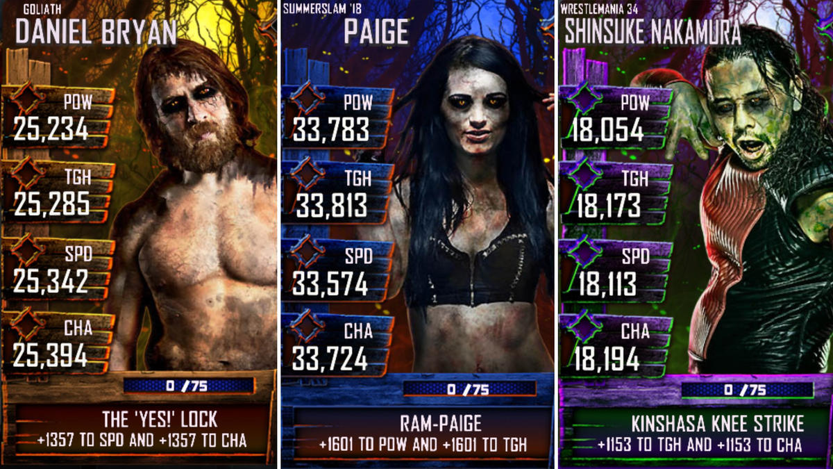 Wwe Supercard Halloween Checklist 2020 WWE SuperCard unveils Trick or Treat update for Halloween | WWE
