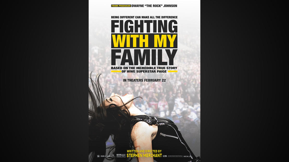 See the official wwe exclusive poster for fighting with my family wwe
