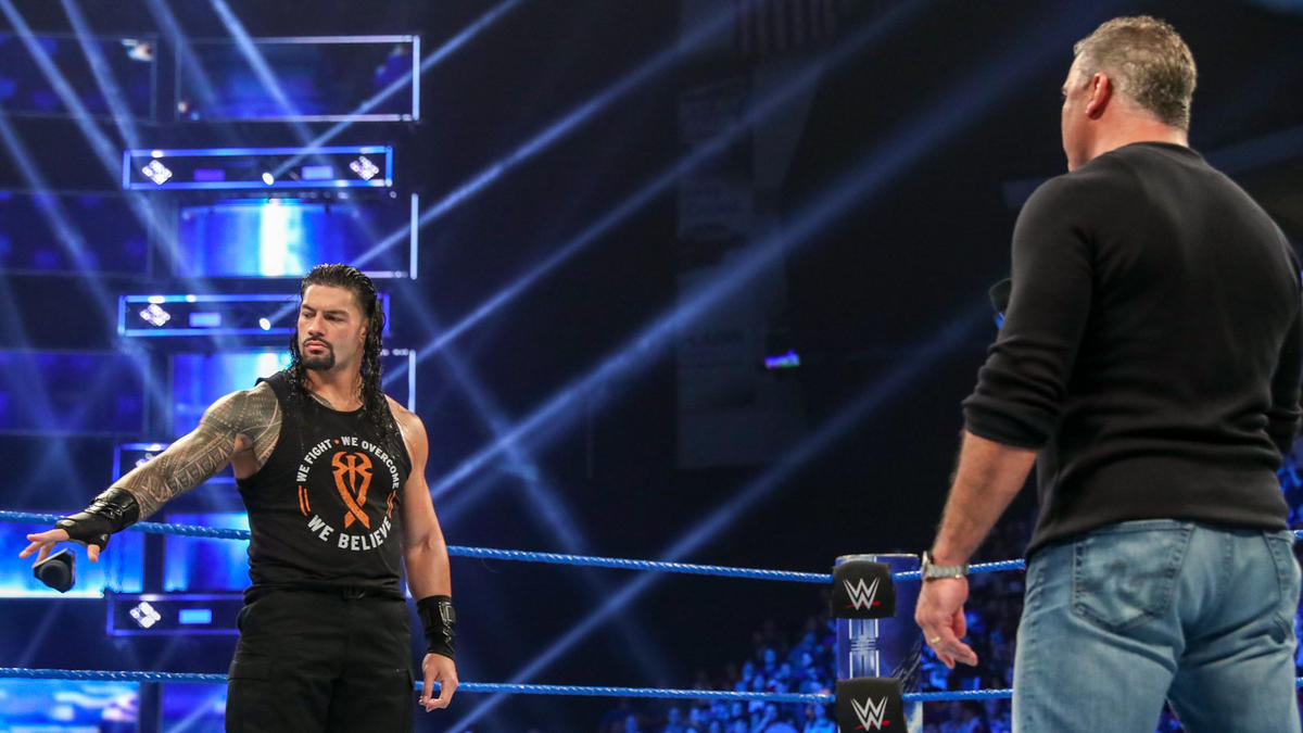 Image result for shane mcmahon roman reigns