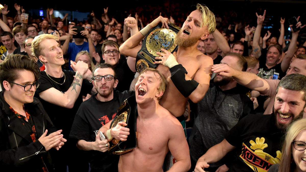 Mark Andrews & Flash Morgan Webster def. The Grizzled Young Veterans and Gallus to capture the NXT UK Tag Team Titles   WWE