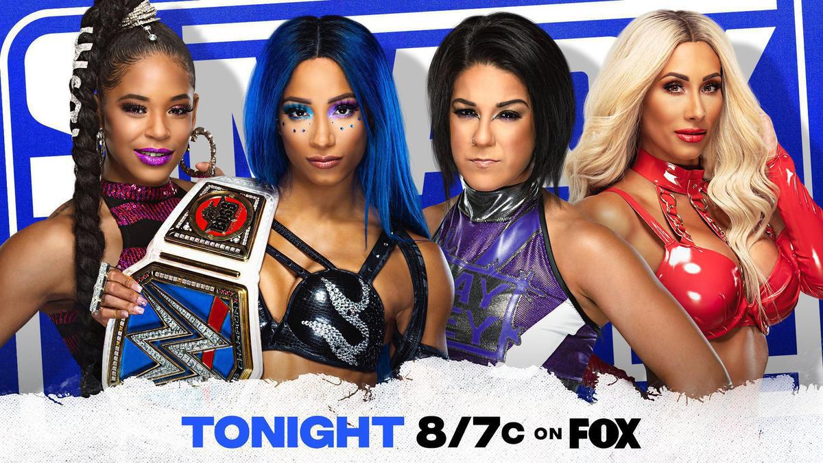 Sasha Banks teamed up with Bianca Belair to take on Bayley and Carmella on WWE SmackDown