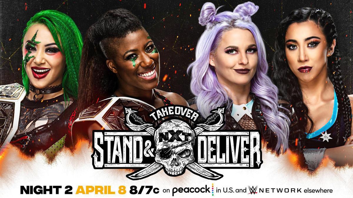 NXT Women's Tag Team Champions Shotzi Blackheart & Ember Moon vs. The Way   WWE