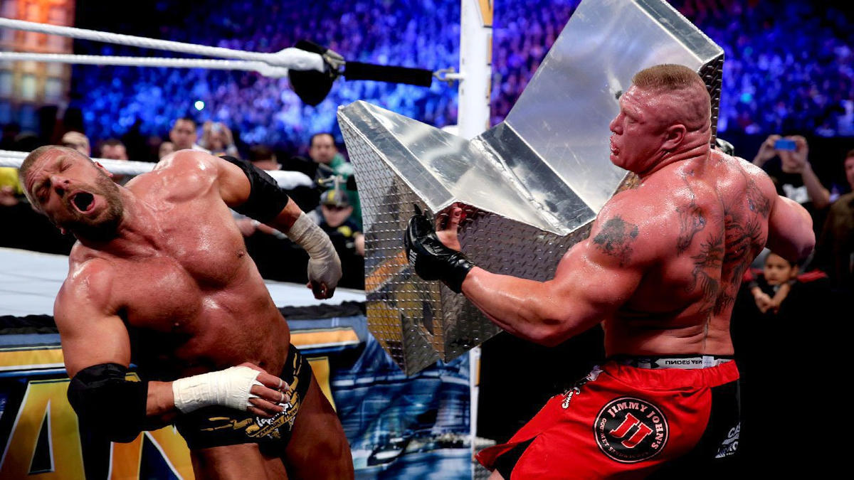 Triple H vs. Brock Lesnar - No Holds Barred Match with Triple H's Career on  the Line: photos | WWE