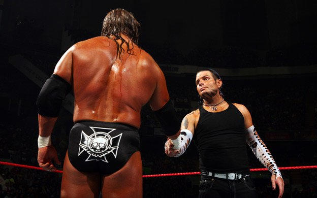 Image result for armageddon 2007 Jeff Hardy vs HHH