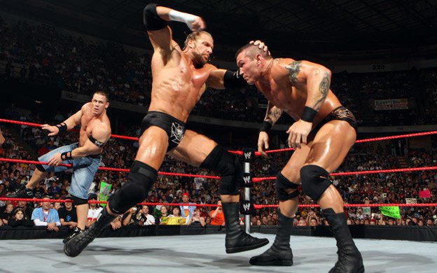 Image result for WWE Backlash 2008 Randy Orton vs HHH vs John Cena vs JBL wwe.com