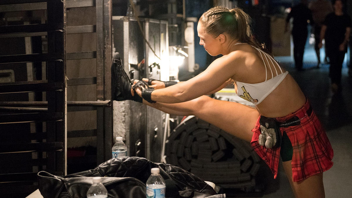Ronda Rousey reveals her plan to change the world in behind-the-scenes interview