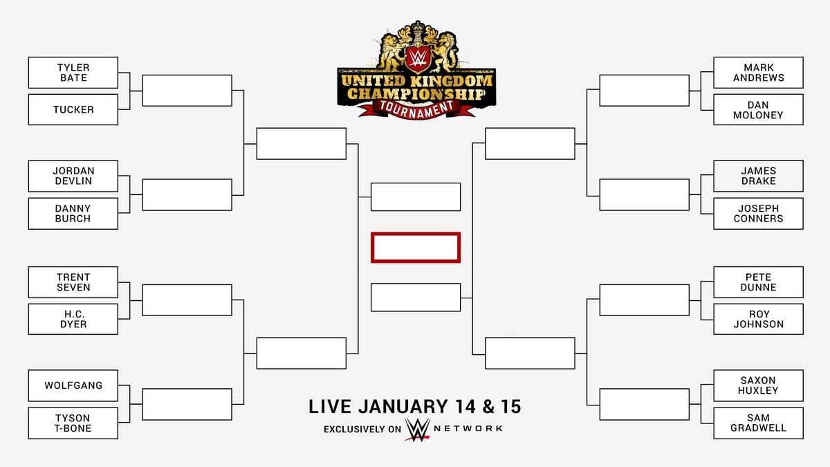 WWE UK tournament night one live results First round matches