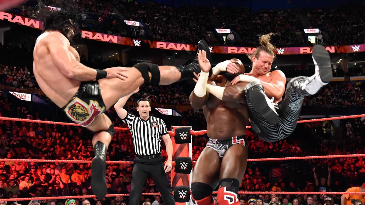 Dolph Ziggler & Drew McIntyre def Titus Worldwide